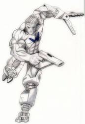 Cyborg Warren by Ken-Davis