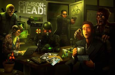 Crimson Head Podcast Team by TheOracleDragon
