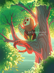 Tabby Owl Griffin by BabaKinkin