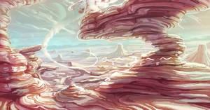 Desert Landscape by BabaKinkin