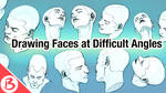 Drawing Faces at Difficult Angles - Video Tutorial by BabaKinkin