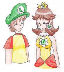 Trying on Luigi's Hat by LilacPhoenix