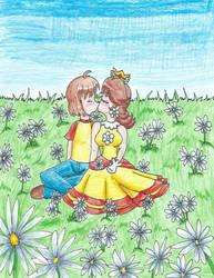 PtCm- Kiss in Daisy Field by LilacPhoenix