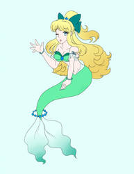 Bubbly Green Mermaid by LilacPhoenix