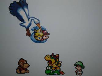 Yoshi's Island Sprites by Karma-Pudding