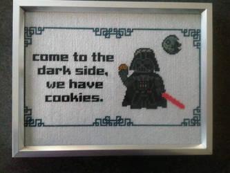 Darth Vader Needlepoint-Stitch by Karma-Pudding