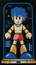 Rock (Mega Man) Cross Stitch  by Karma-Pudding