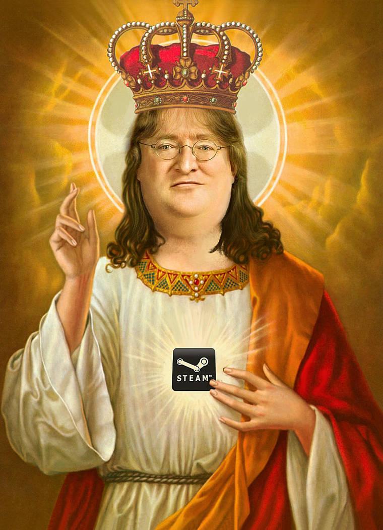 Gabe Newell Portrait by freddre