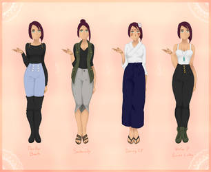 OP   April Pre-Timeskip Outfits [3/4] by Mangasia