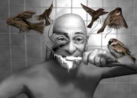 The Mirror in the Bathroom by vmoldavsky
