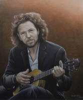 Eddie Vedder playing a Ukulele by JeffEvans