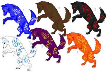 Wolf Adoptables 50 - 1 LEFT by Animal-Adoption-Club