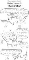 Academic Axolotl Lecture 04 - Sawfish by joffeorama