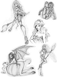 Doodles girls by AngelicCreation