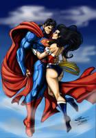 Superman and Wonder Woman by Madboy-Art