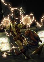 Shocker - Spidey Subway Brawl by DeadlyPancake