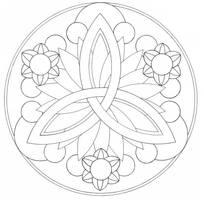 Mandala lines by Hira--Akami