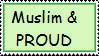 Muslim and Proud Stamp by LittleMuslimLady