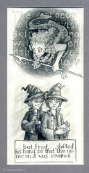 Bookwordsketches #9 and #10 by Si-Luetta
