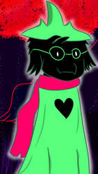 Ralsei (Background) by Wooktent