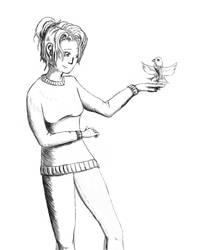 Allie Sketch by zebarnabe