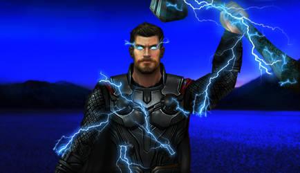 The God Of Thunder by AditRaidaa