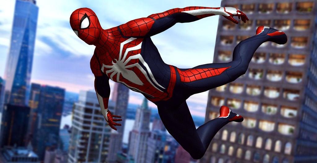 [XNA] Insomniac Spiderman Gliding by AditRaidaa