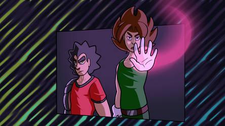 Neko and Jay Being Overly Heroic by nekomaster1000