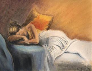 Sleeping Lady by Silver-cyu