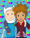 Finn and Sora (Recolored) by meadowtraveller22896