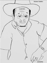 Digital Sketch of My Grandpa by quintanillac