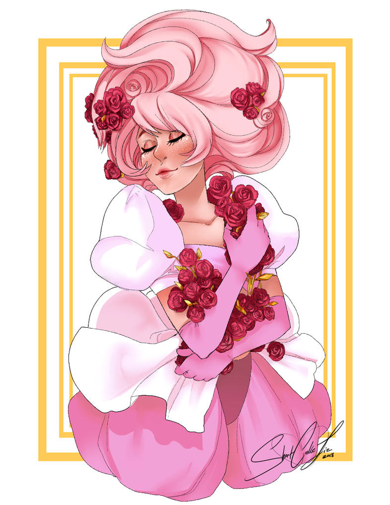 I drew Pink Diamond with Rose Quartz's colors