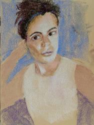 30 minute pastel portrait sketch by virtuosoale