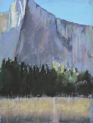 El Capitan Yosemite Soft Pastel Landscape by virtuosoale