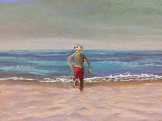 Beach Day Soft Pastels by virtuosoale