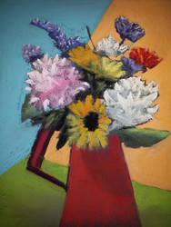 Modern Floral Soft Pastels by virtuosoale