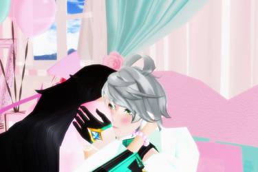 Kiss on the ear by Merieth