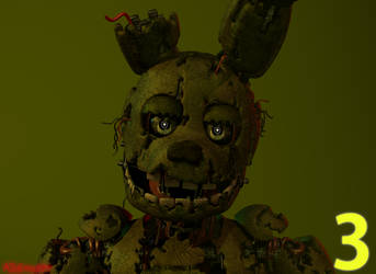 [Blender] Springtrap Render by Kb6muserr