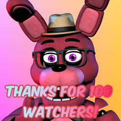 100 Watchers Render! (Thanks a lot!) by Kb6muserr