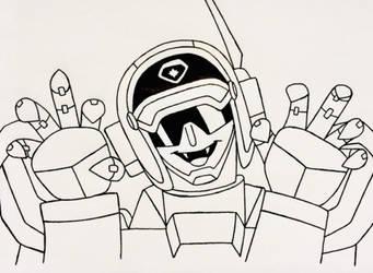 Inktober-Gunmax by AutobotSparkyPrime