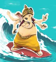 Nice ride, Mister Ganesha by blob1