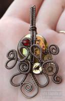 Steampunk Cthulhu pendant by ukapala