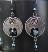 Steampunk dangle earrings by ukapala