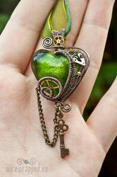 Steampunk heart with a key 2 by ukapala