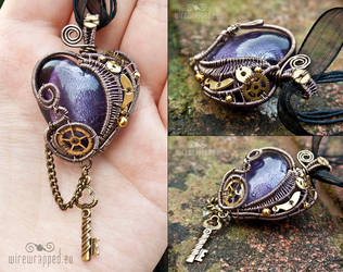 Steampunk heart with a key 4 by ukapala