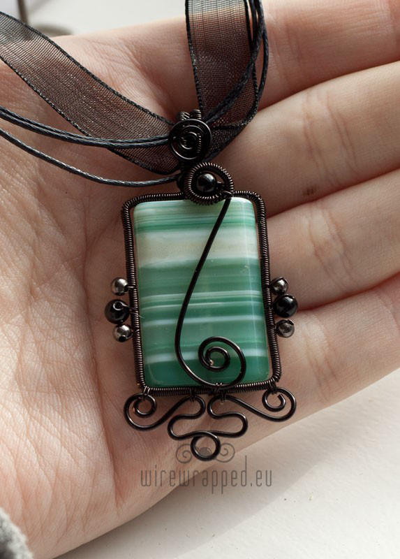 Rectangle agate pendant by ukapala