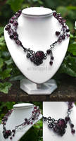 Purple gothic necklace by ukapala
