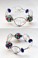RGB lampwork bracelet by ukapala