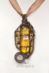 Fused glass steampunk pendant by ukapala