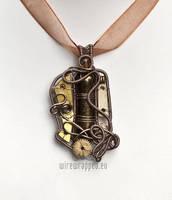 Dichroic steampunk pendant by ukapala